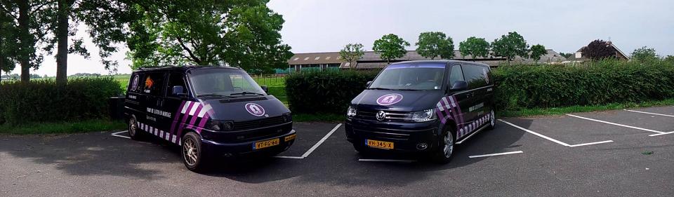 bedrijfsbusjes van Van Es slotenmak